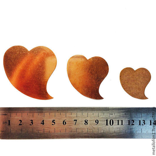 Для украшений ручной работы. Ярмарка Мастеров - ручная работа. Купить Медная форма. Сердце 1.. Handmade. Оранжевый, медь
