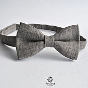 Аксессуары handmade. Livemaster - original item Tie Wild West / grey-brown butterfly rustic. Handmade.