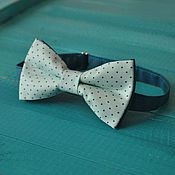 Аксессуары handmade. Livemaster - original item Tie the Freshness / mint bow tie green polka dots. Handmade.