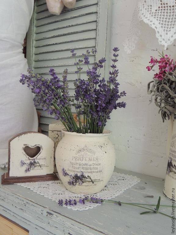 Крынка керамическая ваза Лавандовый край