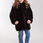 Работы для детей, handmade. Livemaster - original item Children`s fur jacket made of Mouton. Handmade.