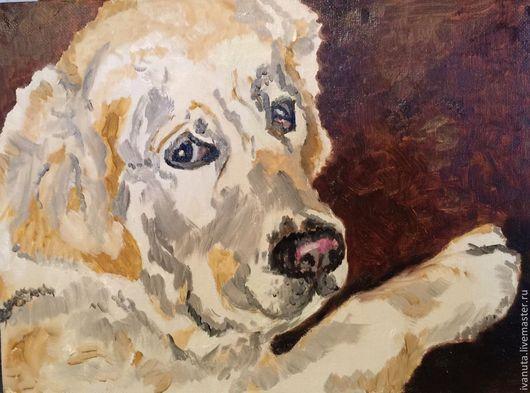 """Животные ручной работы. Ярмарка Мастеров - ручная работа. Купить """"Самая лучшая собака на свете...моя!"""". Handmade. Бежевый"""