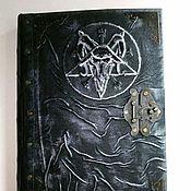 """Канцелярские товары handmade. Livemaster - original item Large black grimoire """"Baphomet"""". Handmade."""