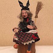 Куклы и игрушки ручной работы. Ярмарка Мастеров - ручная работа Баба - Яга в ступе. Handmade.