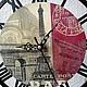 """Часы для дома ручной работы. Ярмарка Мастеров - ручная работа. Купить Часы настенные """"Прогулка по Парижу"""". Handmade. Черный"""