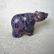 Для дома и интерьера handmade. Livemaster - original item Bear from charoite. Handmade.