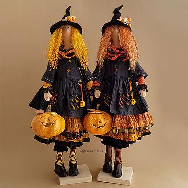 Куклы и игрушки ручной работы. Ярмарка Мастеров - ручная работа Хеллоуин. Хельга и Луиза. Handmade.
