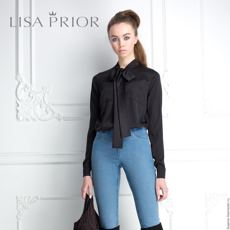 Шелковая блузка с бантом Lisa Prior