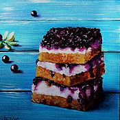 Картины и панно ручной работы. Ярмарка Мастеров - ручная работа Картина маслом Пирог со смородиной. Handmade.