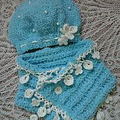 Аксессуары handmade. Livemaster - original item hat and scarf-boa