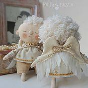 Мягкие игрушки ручной работы. Ярмарка Мастеров - ручная работа Ангелы прилетели Куклы текстильные. Handmade.