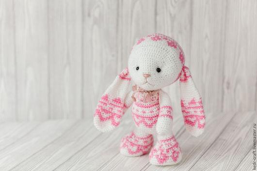 Игрушки животные, ручной работы. Ярмарка Мастеров - ручная работа. Купить белый заяц игрушка, мягкая игрушка розовый кролик с длинными ушками. Handmade.