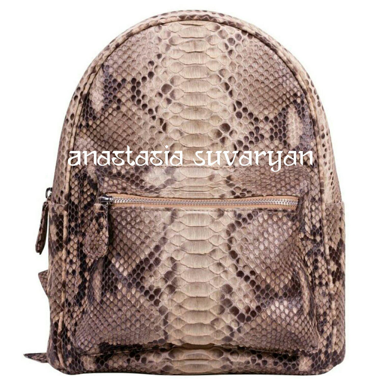 Mochila de cuero de piel de serpiente pitón, Backpacks, Barnaul,  Фото №1