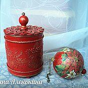 """Для дома и интерьера ручной работы. Ярмарка Мастеров - ручная работа Новогодний подарок """" Два в одном"""". Handmade."""
