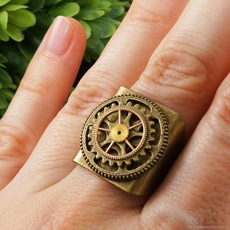 Кольцо Перстень Стимпанк Steampunk bronze, Перстень, Москва,  Фото №1