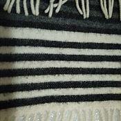 Винтаж handmade. Livemaster - original item Striped scarf, 100% wool, vintage England. Handmade.