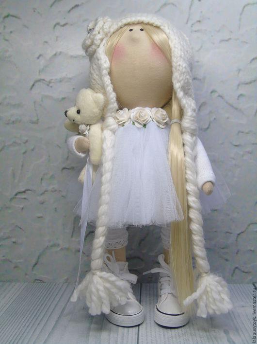 Коллекционные куклы ручной работы. Ярмарка Мастеров - ручная работа. Купить Текстильная кукла Ангел Лина. Handmade. Белый, ангелочек