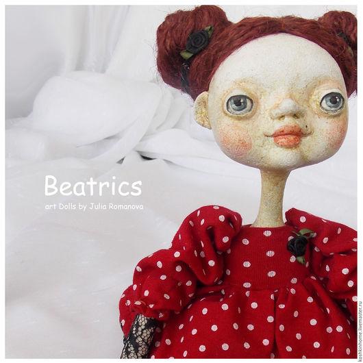 Коллекционные куклы ручной работы. Ярмарка Мастеров - ручная работа. Купить Беатрикс. Handmade. Комбинированный, милый подарок, хлопок