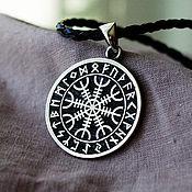 """Русский стиль handmade. Livemaster - original item Silver amulet """"Aegishjelm"""". Handmade."""