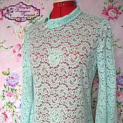 Одежда ручной работы. Ярмарка Мастеров - ручная работа блузка Мятное кружево. Handmade.