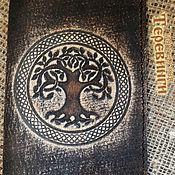 Канцелярские товары ручной работы. Ярмарка Мастеров - ручная работа Обложка для паспорта. Натуральная кожа!!! Дерево. Handmade.