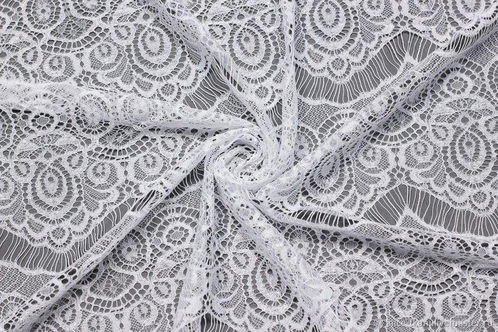 гипюр для платья ткань купить