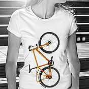 Одежда handmade. Livemaster - original item T-Shirt Bicycle. Handmade.