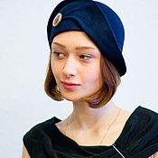 Аксессуары ручной работы. Ярмарка Мастеров - ручная работа шляпа клош «синий арнуво». Handmade.