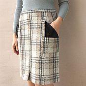 Одежда ручной работы. Ярмарка Мастеров - ручная работа юбка драповая из Чехословакии.модель 80-х. Handmade.