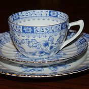 Винтаж handmade. Livemaster - original item Beautiful tea trio, China Blau Germany 1949. Handmade.