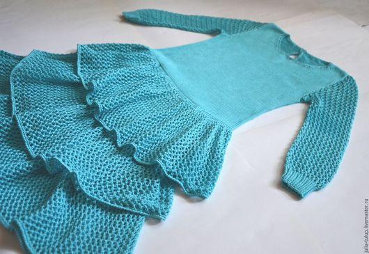 """Одежда для девочек, ручной работы. Ярмарка Мастеров - ручная работа. Купить Летнее платье для девочки """"Бирюза"""". Handmade. Бирюзовый"""