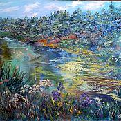 Картины и панно handmade. Livemaster - original item Oil painting large landscape