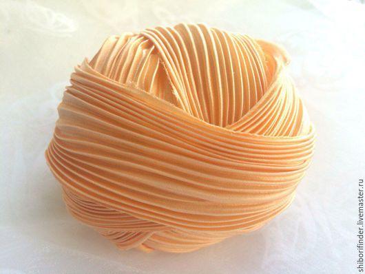 Для украшений ручной работы. Ярмарка Мастеров - ручная работа. Купить №34 Абрикосовый джем - ленты шибори. Handmade.
