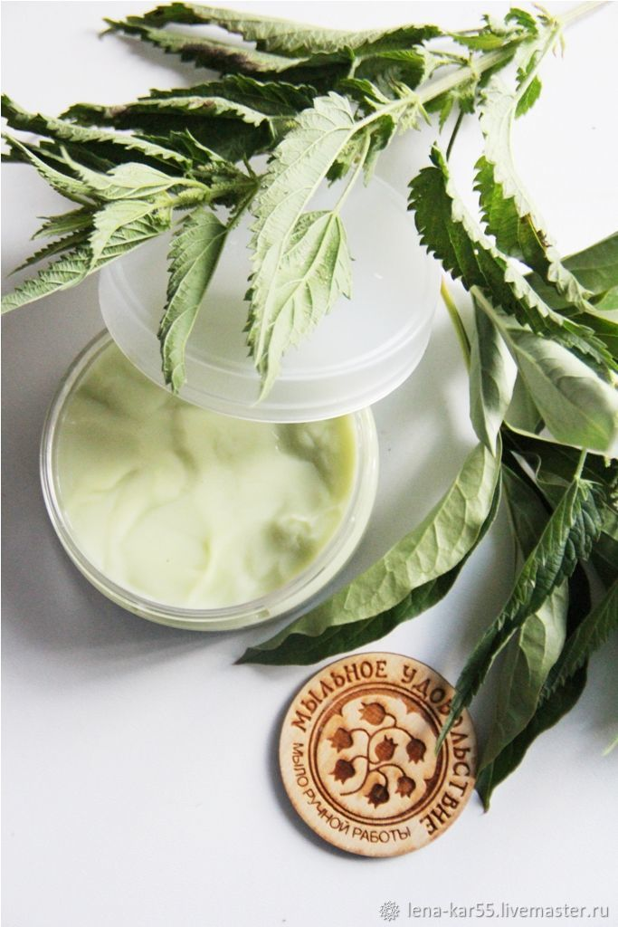 Hair Conditioners handmade. Livemaster - handmade. Buy Conditioning balm Nettle and peppermint for oily hair green.Green