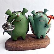 Куклы и игрушки ручной работы. Ярмарка Мастеров - ручная работа Мы пришли с миром!. Handmade.
