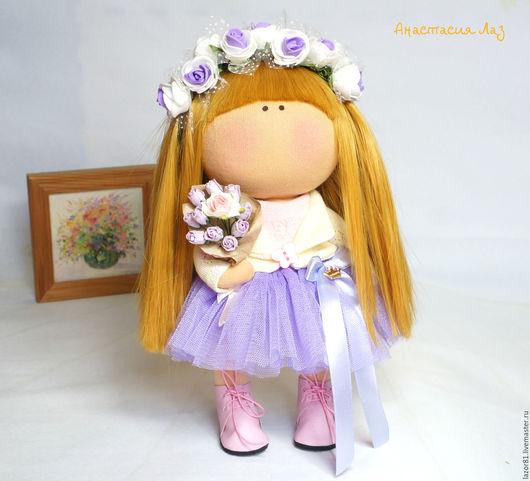 Коллекционные куклы ручной работы. Ярмарка Мастеров - ручная работа. Купить Девушка-весна. Handmade. Сиреневый, интерьерная кукла, подарок