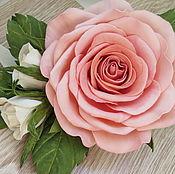 """Украшения ручной работы. Ярмарка Мастеров - ручная работа """"Роза персиковая"""". Handmade."""