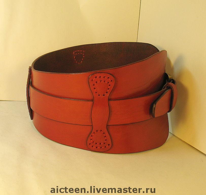 Купить ремень красный кожаный женский широкий ремень женский ckj