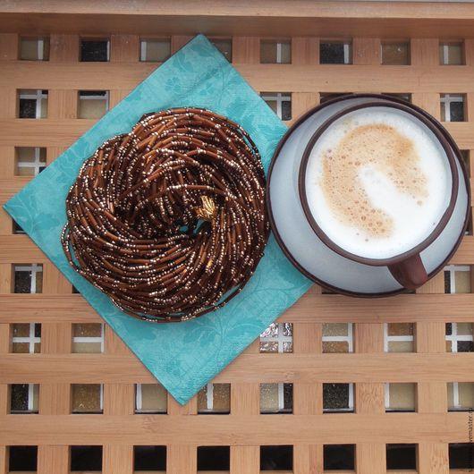 """Колье, бусы ручной работы. Ярмарка Мастеров - ручная работа. Купить Колье """"Hot Chocolate"""" ( Горячий шоколад). Handmade."""
