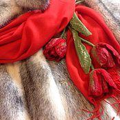 Брошь-булавка ручной работы. Ярмарка Мастеров - ручная работа Букет валяных тюльпанов, брошь, украшение на сумку, на палантин. Handmade.