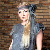 """Одежда ручной работы. Ярмарка Мастеров - ручная работа Авторское валяное платье """"Ash greens """". Handmade."""