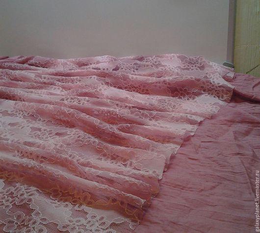 Шитье ручной работы. Ярмарка Мастеров - ручная работа. Купить Гипюр с мелированием цвета пыльно-розовый. Handmade. Розовый