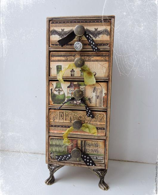 """Мини-комоды ручной работы. Ярмарка Мастеров - ручная работа. Купить """"Колдовской шкафчик"""" - мини-комод. Handmade. Комбинированный, волшебство"""