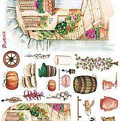 Материалы для творчества ручной работы. Ярмарка Мастеров - ручная работа (2 вида) Рисовая бумага для Чайных домиков. Handmade.