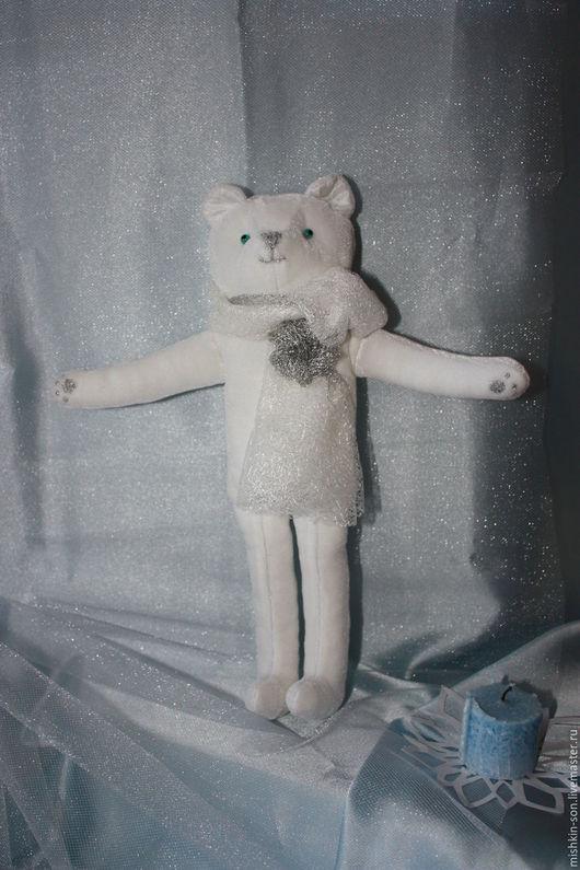 Игрушки животные, ручной работы. Ярмарка Мастеров - ручная работа. Купить Мишка Снежок. Handmade. Белый, мишка игрушка, текстиль