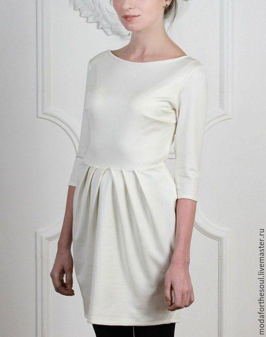 """Платья ручной работы. Ярмарка Мастеров - ручная работа. Купить Платье ( """"тюльпан""""). Handmade. Белый, белое платье"""