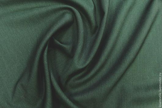 Шитье ручной работы. Ярмарка Мастеров - ручная работа. Купить LL45, Шерсть Brioni. Handmade. Тёмно-зелёный, платье из шерсти
