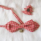 Аксессуары ручной работы. Ярмарка Мастеров - ручная работа галстук - бабочка Клетка. Handmade.