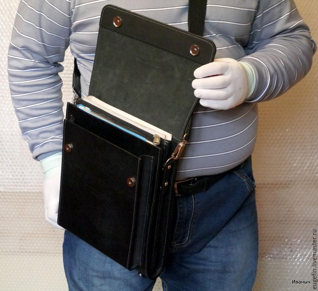 Мужские сумки-планшеты и мессенджеры