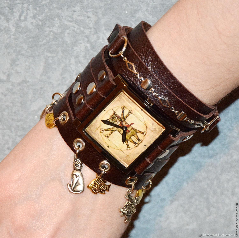 1ea3cac028e1 ... Часы ручной работы. Заказать Необычные наручные часы Стимпанк -